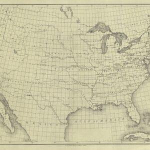 1866 USA Base Map